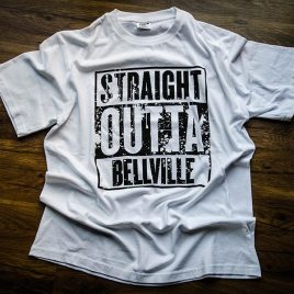Straight Outta Bellville White Tees (Unisex) 180g