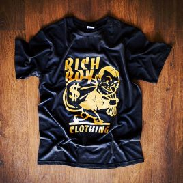 Money Bag design Black Tees (Unisex) 180g<br><i>Limited Edition</i> Gold Logo