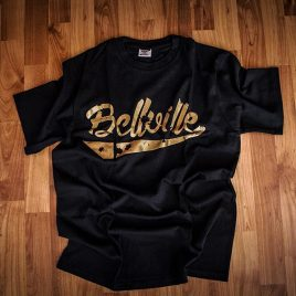 OG Bellville Black Tees (Unisex) 180g <br><i>Limited Edition</i> Gold Logo