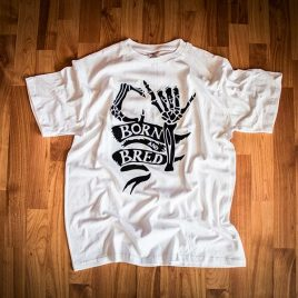 CY Born And Bred White Tees (Unisex) 180g