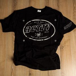 Rich Boy Activ Black Tees<br>(Unisex) 180g