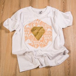Diamond In The Rough White Tees (Unisex) 180g<br><i>Gold Diamond💎</i>